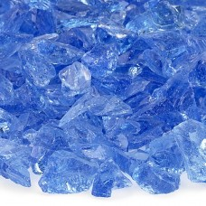 "Fire Pit Glass Light Blue 1/2"""