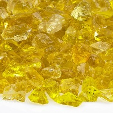 """Fire Pit Glass Yellow 1/2"""""""