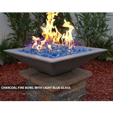 Concrete Fire Bowls Square 18""