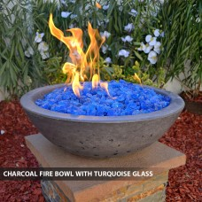 "Concrete Fire Bowls Round 48"""