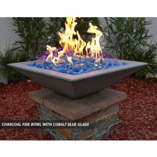 Concrete Fire Bowls Square 36""