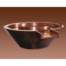 Copper Fire and Water Bowl. Round. Automated