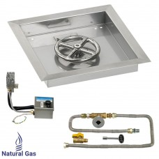 """12"""" Drop in Burner Pan. Square. Automated"""