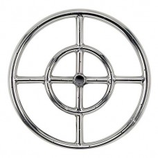 Round Stainless Steel Fire Ring 12'' LP
