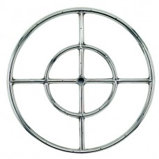 Round Stainless Steel Fire Ring 18'' LP