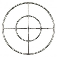 Round Stainless Steel Fire Ring  24'' LP