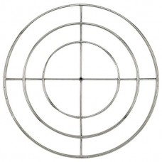Round Stainless Steel Fire Ring 48''LP HC