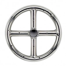 Round Stainless Steel Fire Ring 6'' LP