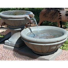 Concrete Fire Bowl Tuscany W/ Scupper 36''