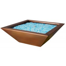 Copper Fire Bowl. Square. Manual