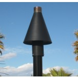 Automated Remote Controlled Tiki Torch Black Coned
