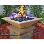 Concrete Fire Bowls Square 18''