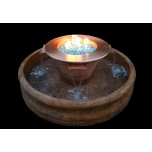 Copper Fire Bowl with Four Way Scupper