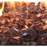 Fire Glass Reflective Copper 1/2""