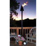 Portable Tiki Torches Black Cone