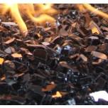 Fire Glass Reflective  Black 1/4''