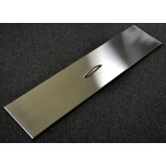 Trough Burner Cover Stainless Steel  24''