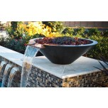 Wok Style Fire Bowl with Scupper 33